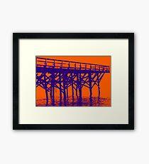 On the Beach #18c Framed Print