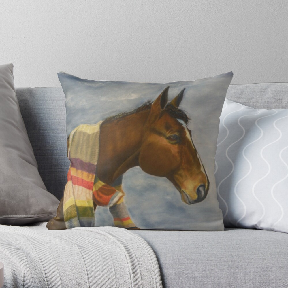 Dr Whooves Throw Pillow