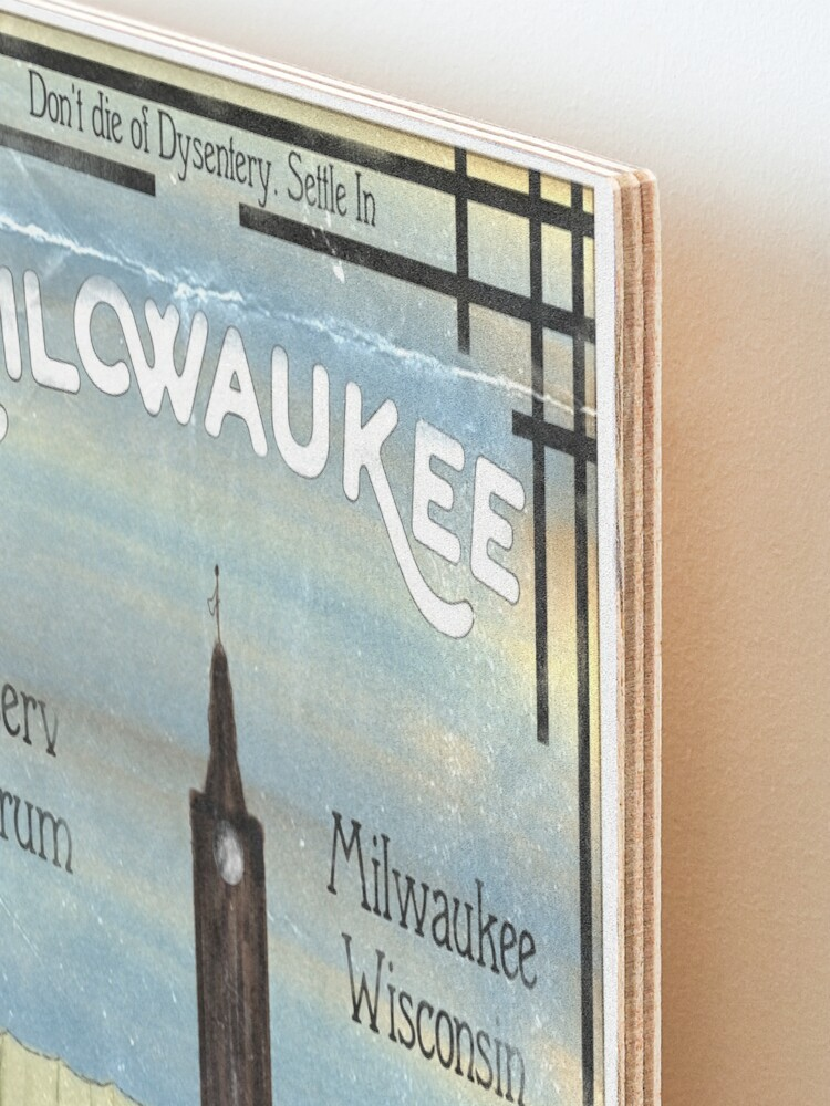 Alternate view of Settle In Milwaukee Mounted Print