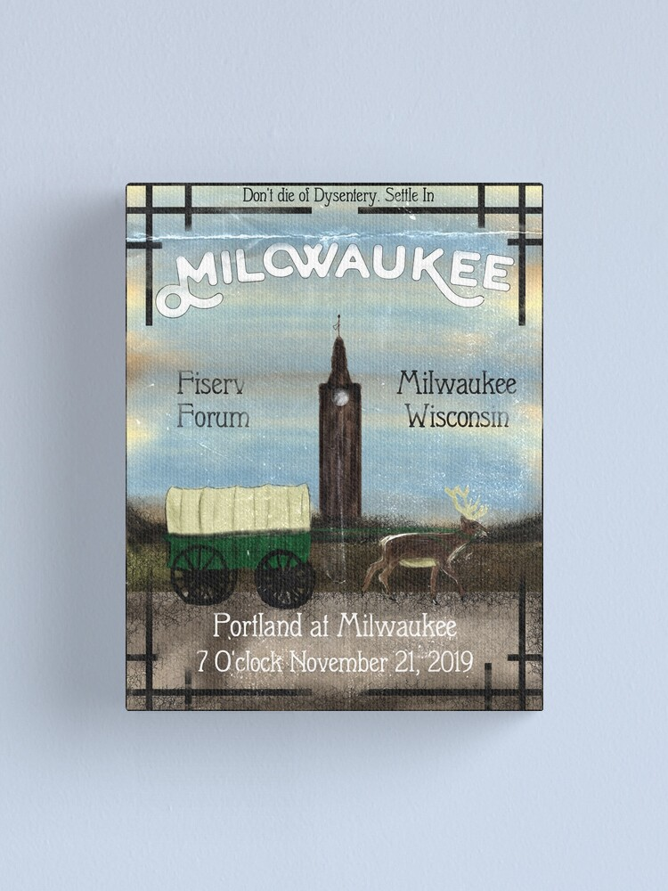 Alternate view of Settle In Milwaukee Canvas Print