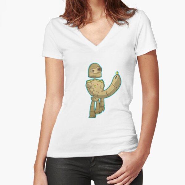 Laputa bot Fitted V-Neck T-Shirt