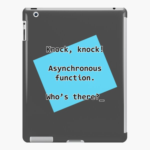 Knock Knock JavaScript iPad Snap Case