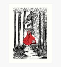 Rötkappchen  Art Print