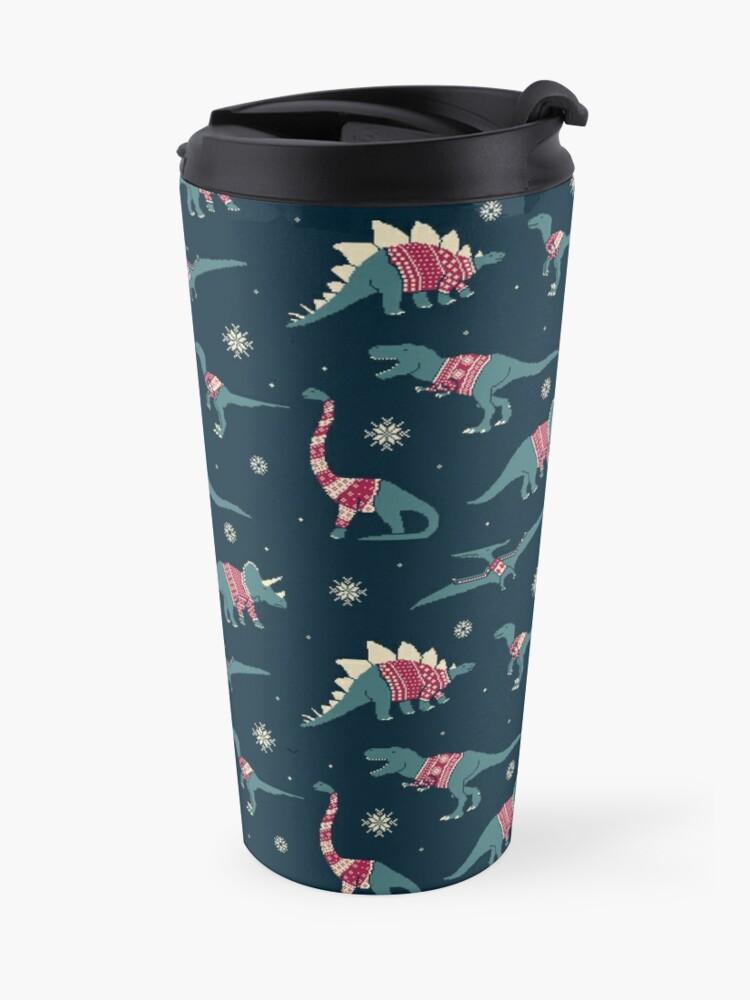 Alternate view of Dinos In Sweaters Travel Mug
