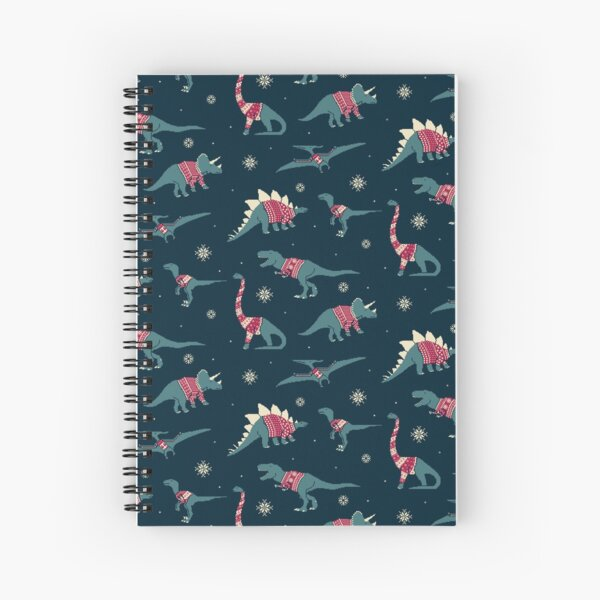 Dinos In Sweaters Spiral Notebook