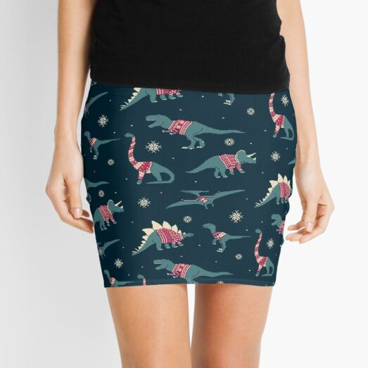 Dinos In Sweaters Mini Skirt