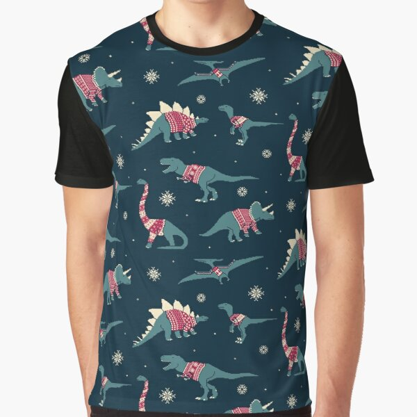 Dinos In Sweaters Graphic T-Shirt