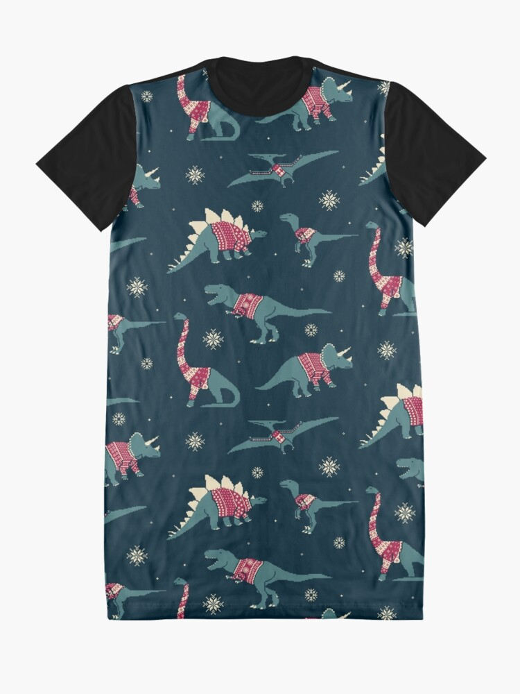 Alternate view of Dinos In Sweaters Graphic T-Shirt Dress