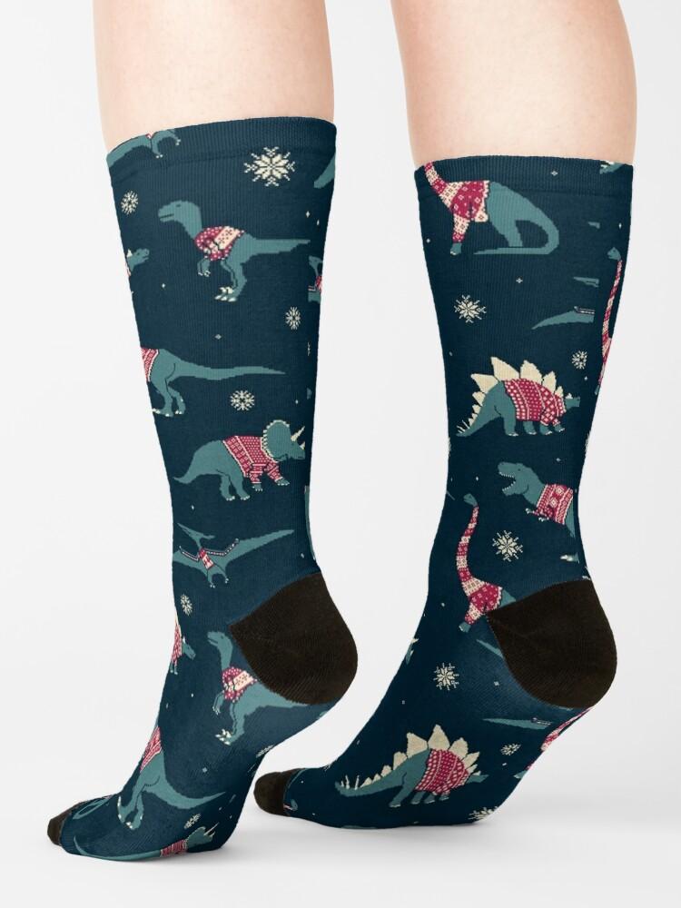 Alternate view of Dinos In Sweaters Socks