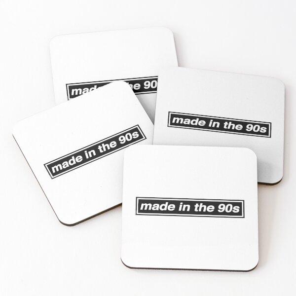 Made In The 90s - OASIS Band Tribute [Weißer Hintergrund] Untersetzer (4er Set)