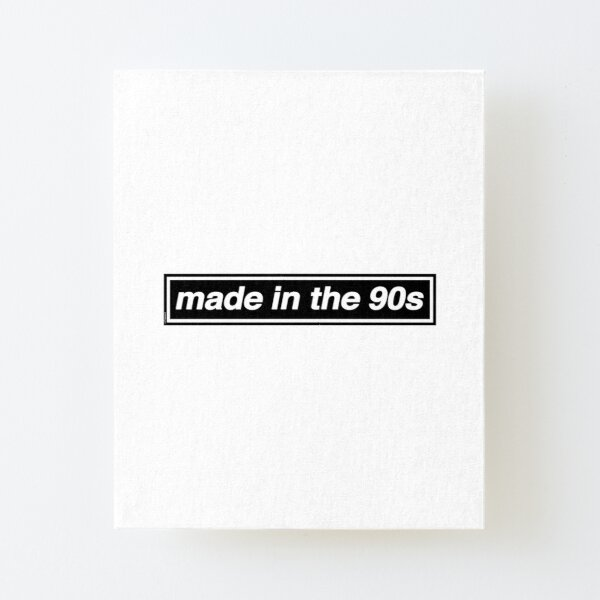 Made In The 90s - OASIS Band Tribute [White Background] Canvas Mounted Print