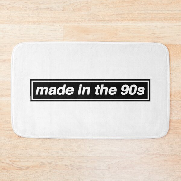 Made In The 90s - OASIS Band Tribute [White Background] Bath Mat