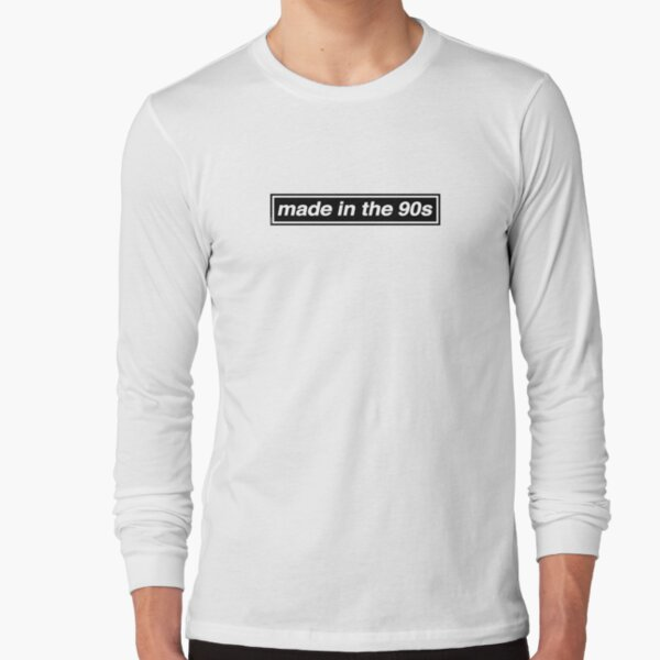 Made In The 90s - OASIS Band Tribute [White Background] Long Sleeve T-Shirt
