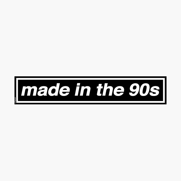 Made In The 90s - OASIS Band Tribute [White Background] Photographic Print