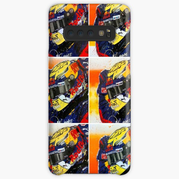 Max Verstappen F1 graffiti painting collage by DRAutoArt Samsung Galaxy Snap Case
