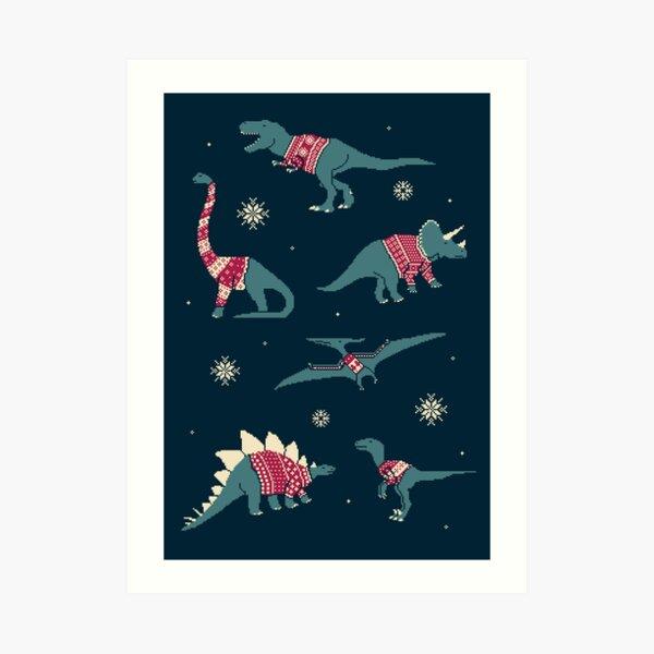 Dinos In Sweaters Art Print
