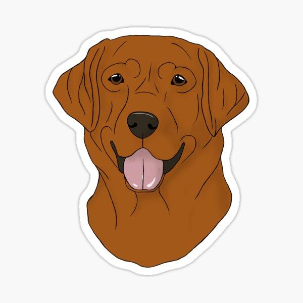 Labrador - Fox Red Sticker