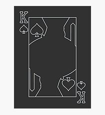 King of Spades - Outline Photographic Print