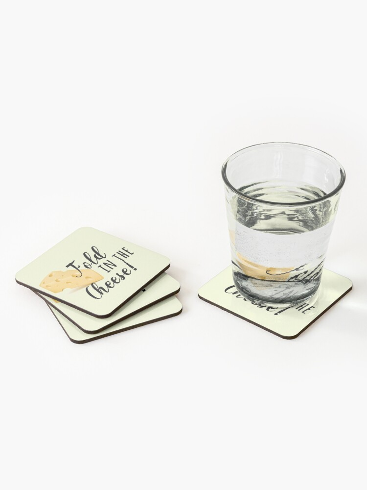 Alternate view of fold in the cheese! Coasters (Set of 4)