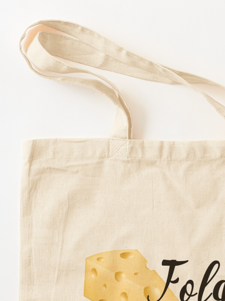 Alternate view of fold in the cheese! Tote Bag