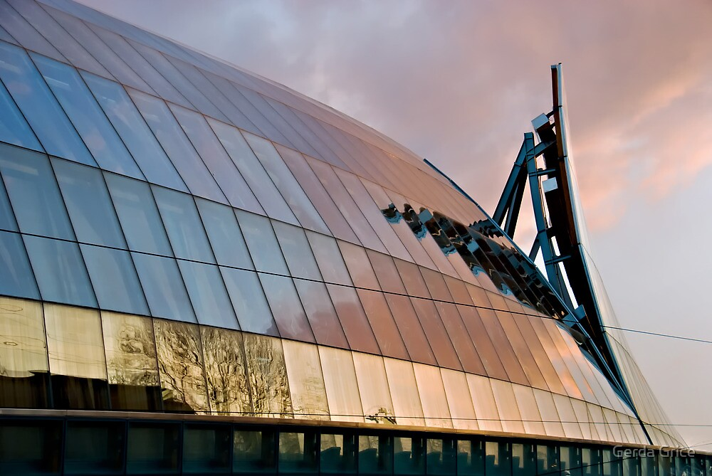 Sunset over Frank Gehry's Re-envisoning of the AGO by Gerda Grice