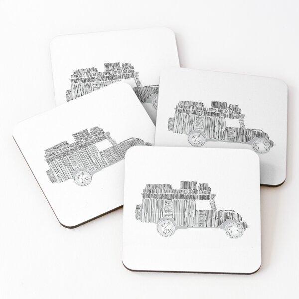 Artsy Sketchy Coasters (Set of 4)