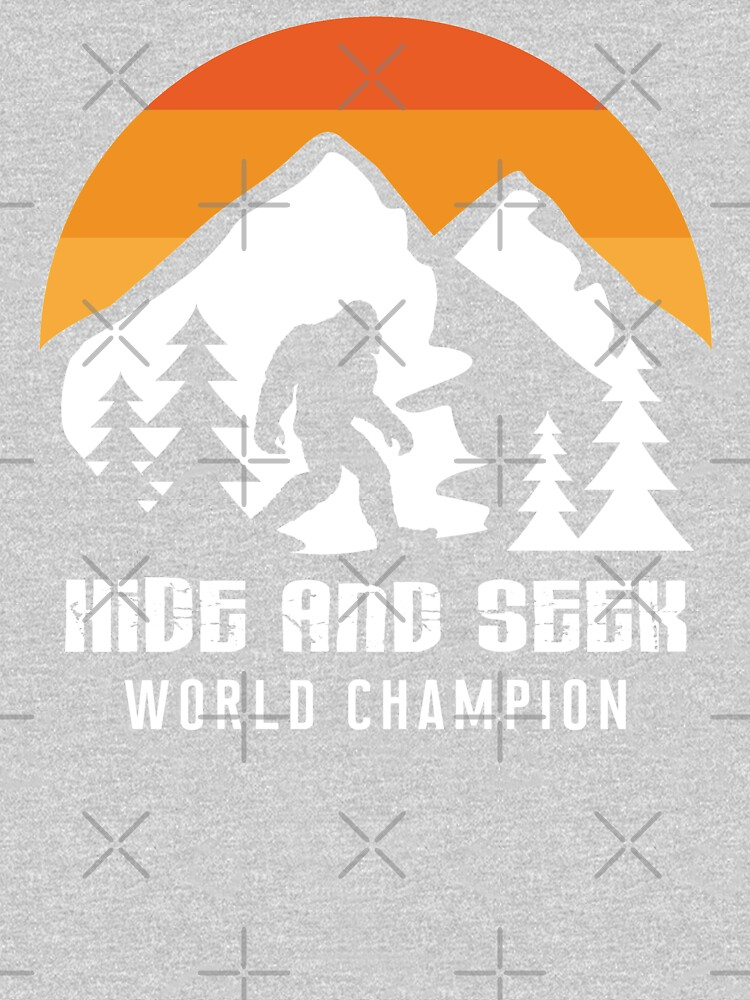 Retro Hide And Seek World Champion Bigfoot T-Shirt & Gift by jchai