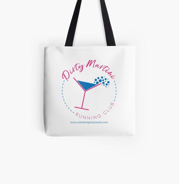 Dirty Martini Running Club All Over Print Tote Bag