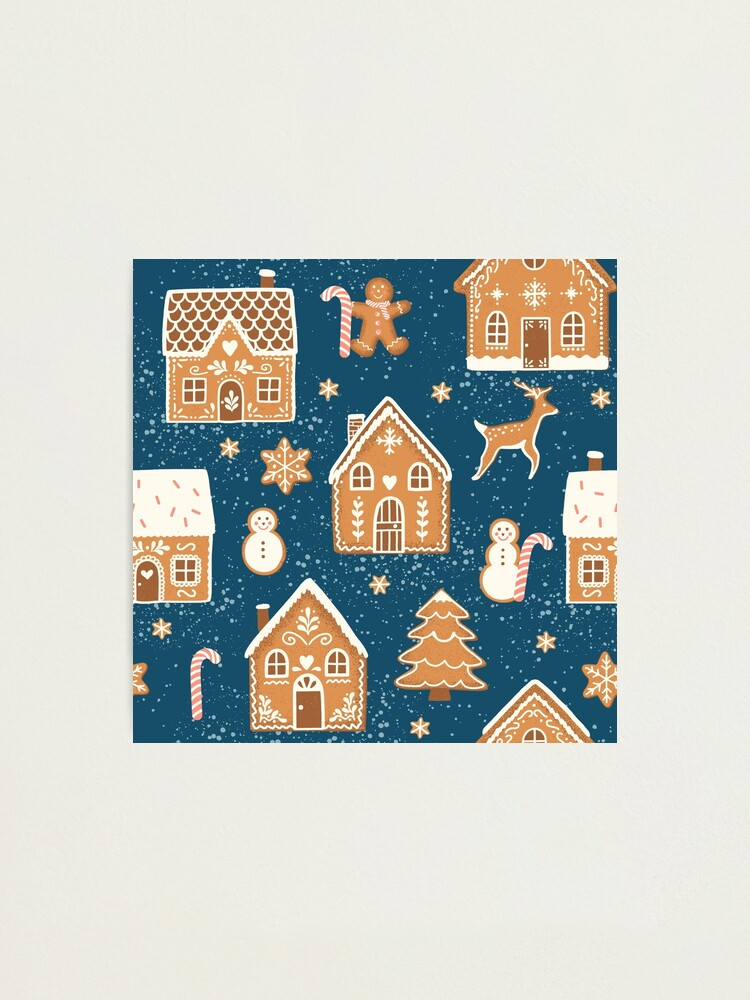 Alternate view of Gingerbread Village (with stickers) Photographic Print