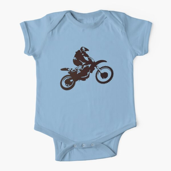 Motor X Silhouette  Short Sleeve Baby One-Piece
