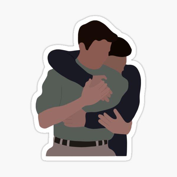 The hug Sticker