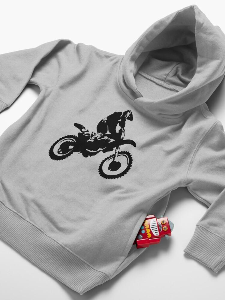 Alternate view of Motor X  Dirt Bike Toddler Pullover Hoodie