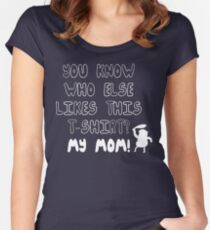 MY MOM! Regular Show Women's Fitted Scoop T-Shirt