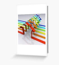 Houses - 3D Render Greeting Card