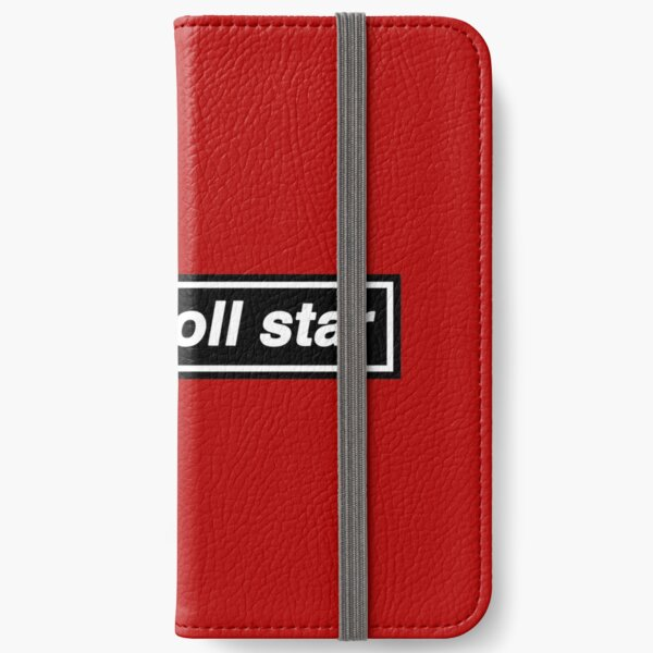 Rock n Roll Star - OASIS Band Tribute [Red Background] iPhone Wallet