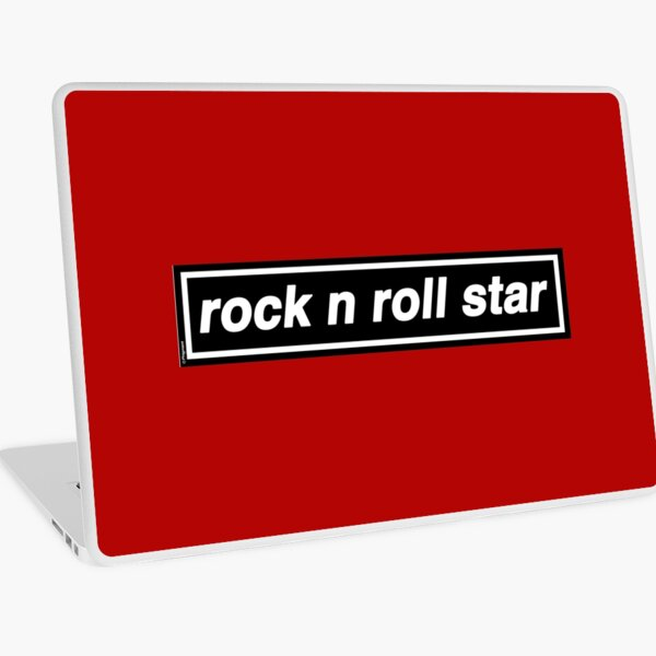 Rock n Roll Star - OASIS Band Tribute [Red] MADE IN THE 90s Laptop Skin