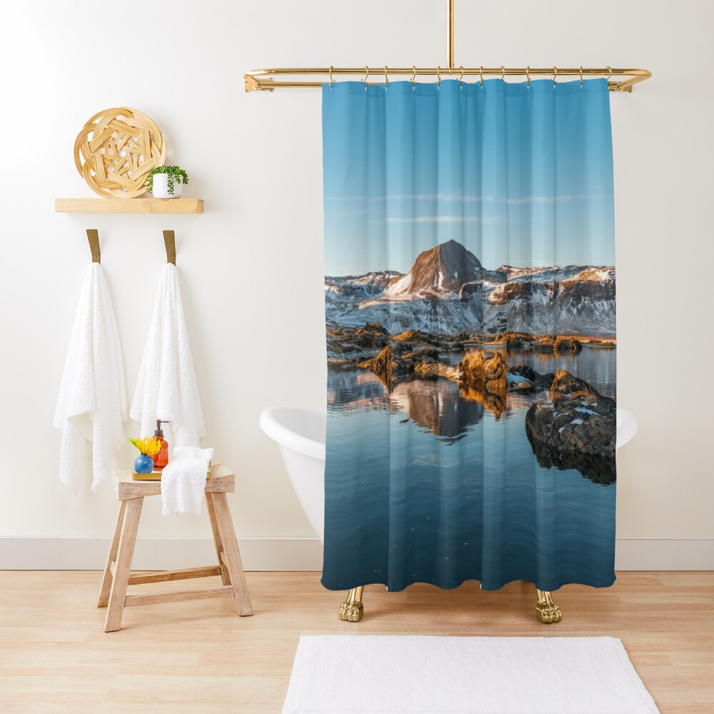 Winter landscape in Iceland II Shower Curtain