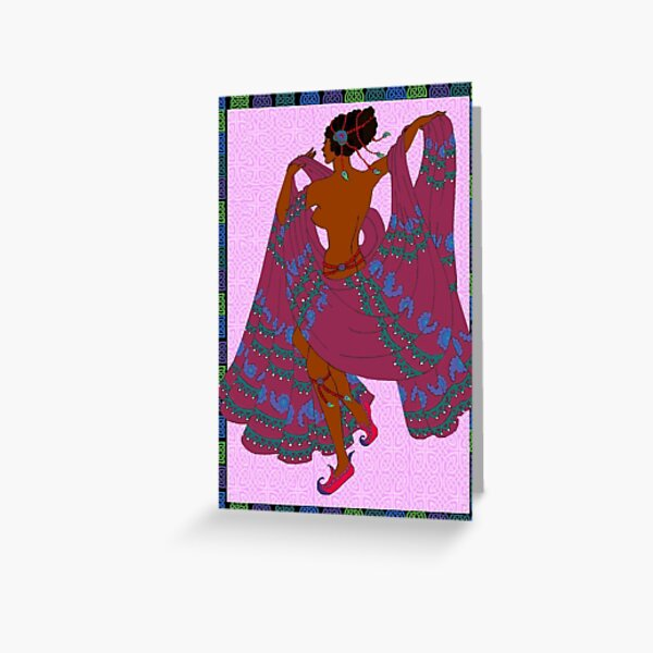 Dancing for Leon in Red Slippers Greeting Card