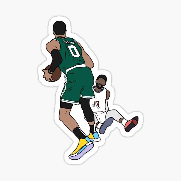 Jayson Tatum Crosses Over Paul George Sticker