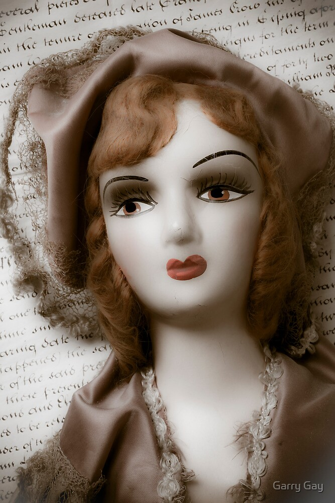 Old Doll On Letter by Garry Gay