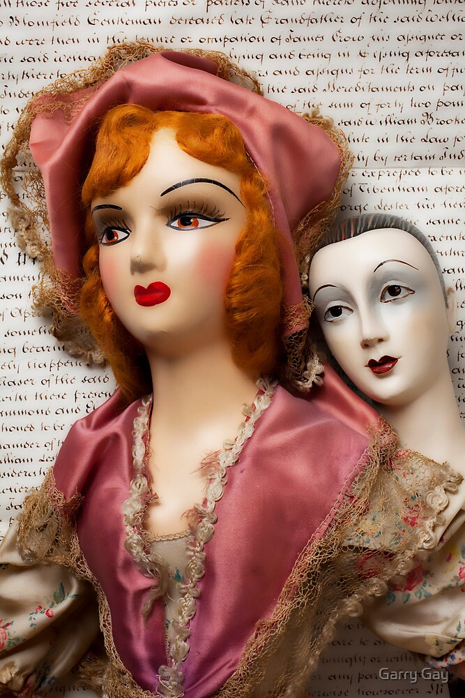 Two Vintage Dolls by Garry Gay