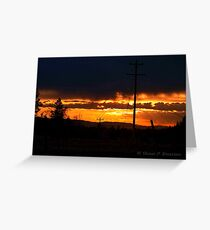 Burning Skies Greeting Card