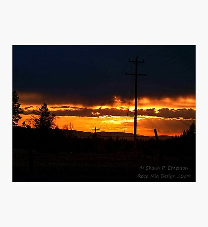 Burning Skies Photographic Print