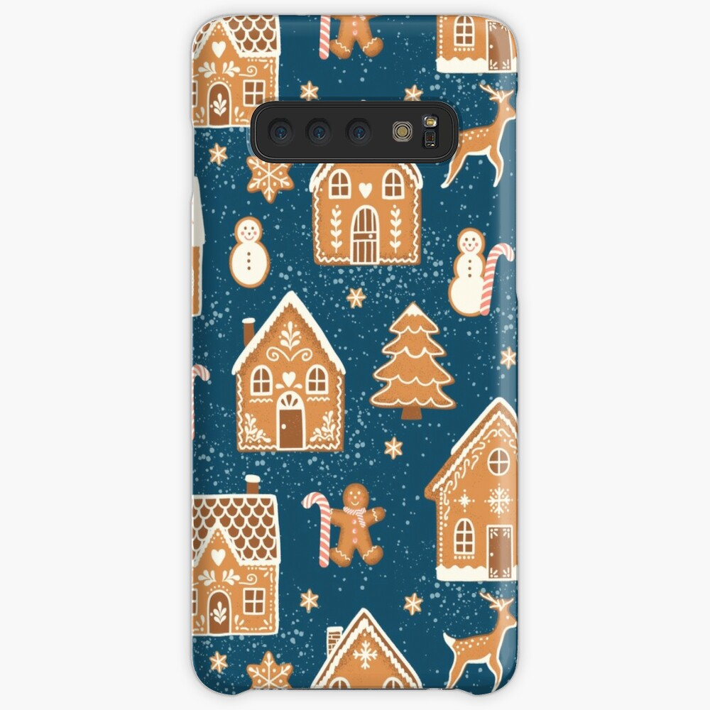 Gingerbread Village (with stickers) Case & Skin for Samsung Galaxy