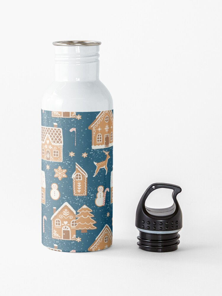 Alternate view of Gingerbread Village (with stickers) Water Bottle