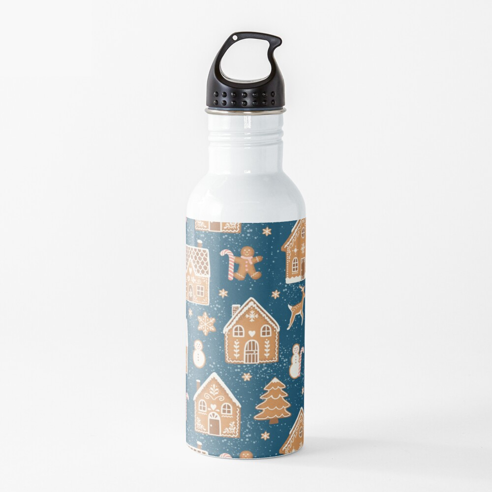 Gingerbread Village (with stickers) Water Bottle