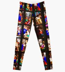 Colourful stained-glass windows in Milan Cathedral, ITALY Leggings