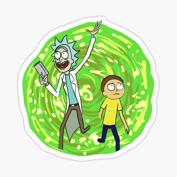 Rick y morty Pegatina