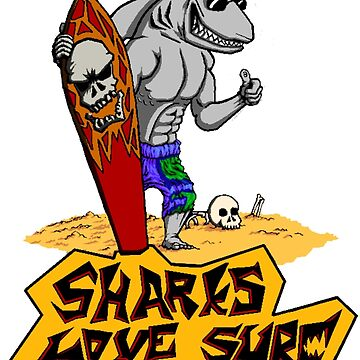Sharks love surf by QuoHop
