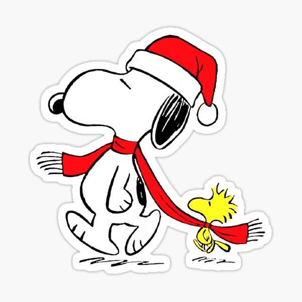 un charlie navidad 2019 marrón snopy wodstock natalan Pegatina